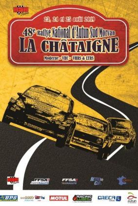 Rallye autun 2019 rallye la chataigne affiche